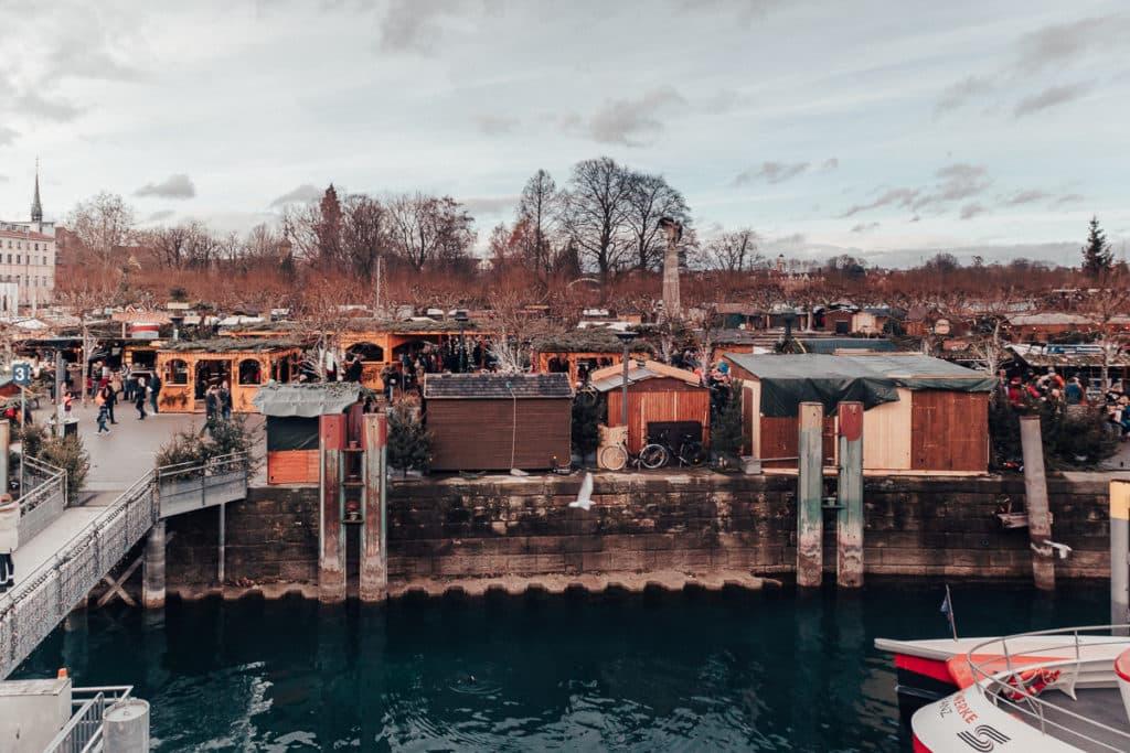 Vista para o Mercado de Natal de Constance Alemanha