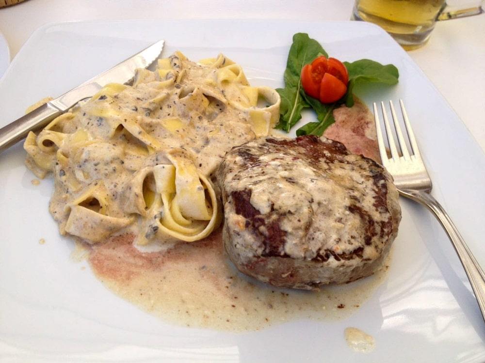 Pasta Trufada em um dos restaurantes de Rovinj, o Konoba El Niro.