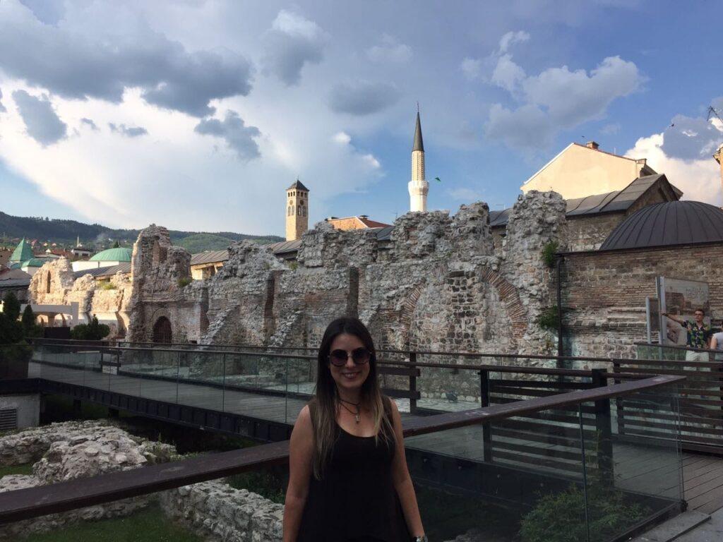 Ruínas Otomanas no centro de Sarajevo