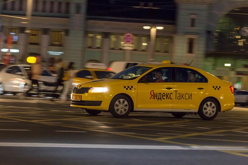 Yandex Taxi na Rússia, meios de transporte