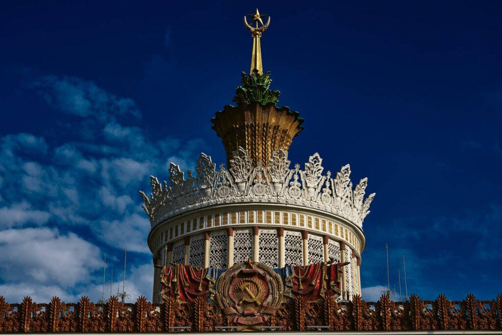 Um dos pavilhões do parque soviético de Moscou, Pavilhão da Agricultura