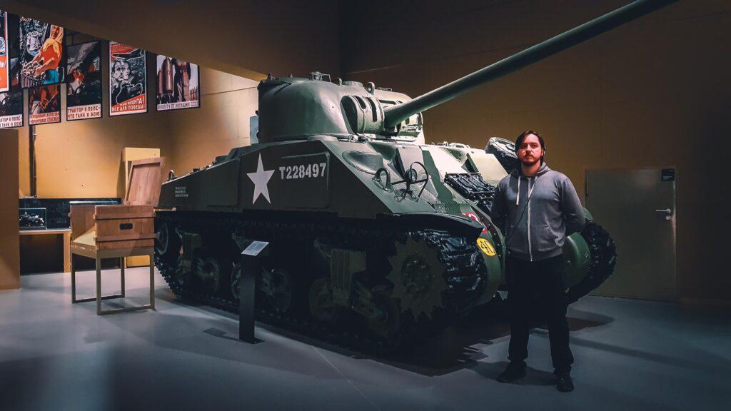 Tanque de Guerra que faz parte da exposição do Museu da Segunda Guerra Mundial de Gdansk.
